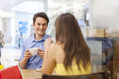 Chitchat at cafe Stock Photography