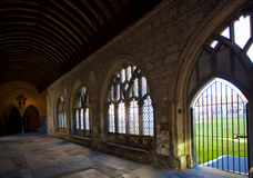 Chitchester cathedral cloister. Royalty Free Stock Images