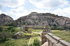 Chitradurga堡垒纪念碑和废墟,卡纳塔克邦 免版税库存图片