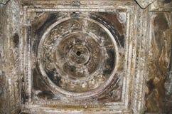 CHITRAGUPTA TEMPLE, Ceiling - Mandapa, Western Group, Khajuraho, Madhya Pradesh, UNESCO World Heritage Site. CHITRAGUPTA TEMPLE, Ceiling - Mandapa, Western Group stock image