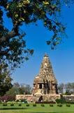 Chitraguptatempel, Khajuraho, India, Unesco-erfenisplaats. Stock Foto