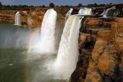 Chitrakoot waterfalls in India stock photo