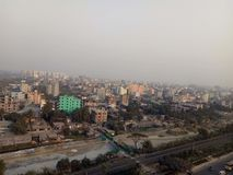 Chittagong. Evening view of the city Abcd Royalty Free Stock Images