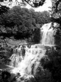 Chittenango понижается взгляд со стороны черно-белый стоковая фотография