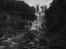 Chittenango faller svartvitt royaltyfri fotografi