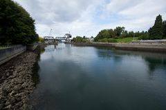 Chittenden Locks Stock Photo
