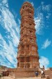 chittor chittorgarh fortu ind sójka Rajasthan fotografia stock