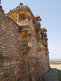 Chittorgarh citadel ruins in Rajasthan, India Stock Photo