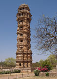 Chittorgarh citadel ruins in Rajasthan, India Royalty Free Stock Photo