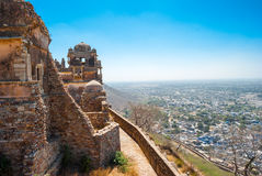 Chittorgarh Fort,. Rajasthan , India.   the largest fort in India. View from the ramparts Royalty Free Stock Photo