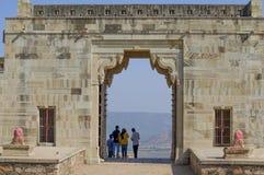 Chittorgarh oud fort in de poort van India stock fotografie
