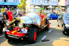 Chitty Chitty Bang Bang. A replica of the famous film automobile Chitty Chitty Bang bang Parked on the promenade at Shanklin, Isle of Wight, England, UK Stock Photo