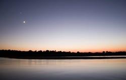 chitwan ηλιοβασίλεμα του Νεπάλ Στοκ εικόνα με δικαίωμα ελεύθερης χρήσης