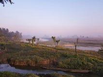 Chitwan NP pendant le matin Photos libres de droits