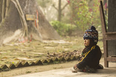 CHITWAN PARK, NEPAL - NOVEMBER 24: Children of Nepal playing in Stock Image