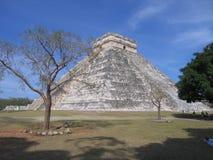 chitzen пирамидка itza майяская Стоковые Изображения RF
