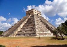 Civilizations of Yucatan. Chitzen itza pyramid of the Aztecs stock image