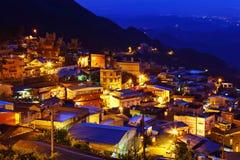 Chiu市分村庄在台湾 库存图片