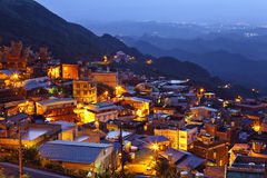 Chiu fen village at night Stock Image