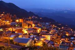 Chiu fen village at night Royalty Free Stock Photography