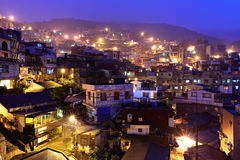 Chiu fen village at night, in Taiwan Royalty Free Stock Photography
