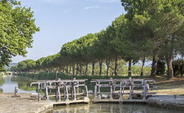 Chiuda, Canal du Midi. La Francia. Immagini Stock Libere da Diritti