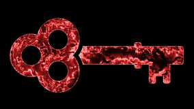 Chiuda a chiave 001 il fondo del nero di risoluzione di colore rosso 4K immagini stock libere da diritti