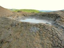 Chiuda fino ad un vulcano del fango Fotografie Stock