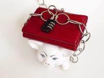 Chiuda i soldi a chiave Fotografia Stock Libera da Diritti