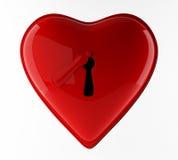 Chiuda il neart a chiave rosso Fotografia Stock