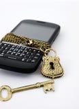 Chiuda il telefono a chiave Fotografie Stock Libere da Diritti