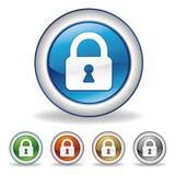 chiuda l'icona a chiave Immagine Stock Libera da Diritti