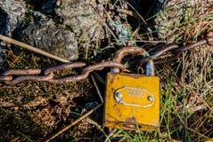 Chiuda la catena a chiave Fotografia Stock Libera da Diritti