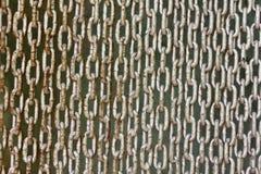 Chiuda la vecchia rete fissa a chiave di collegamento chain Immagini Stock Libere da Diritti