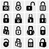 Chiuda le icone a chiave di vettore messe su gray Immagine Stock Libera da Diritti