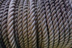 Chiuda su alta profondità di uso approssimativo di struttura della corda per obj industriale Fotografie Stock Libere da Diritti