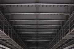 Chiuda su costruzione dei dettagli del ponte del metallo fotografia stock