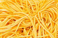 Chiuda in su degli spaghetti aggrovigliati Fotografia Stock Libera da Diritti