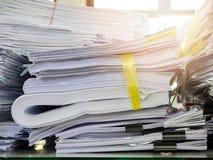 Chiuda su dei documenti di affari Immagine Stock Libera da Diritti