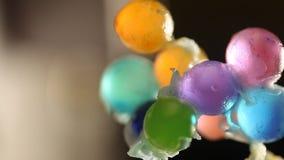 Chiuda su dei dolci del gel archivi video