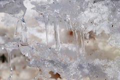 Chiuda su dei ghiaccioli Fotografia Stock Libera da Diritti