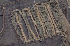 Chiuda su dei jeans di modo, fuoco selezionato Fotografia Stock