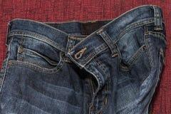 Chiuda su dei jeans di modo, fuoco selezionato Immagine Stock Libera da Diritti