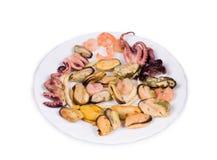 Chiuda su dei prodotti dei frutti di mare Fotografia Stock Libera da Diritti