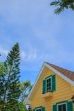 Chiuda su dei tetti della casa Fotografia Stock