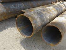 Chiuda su dei vecchi tubi arrugginiti Fotografia Stock Libera da Diritti
