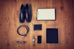 Chiuda su dei vestiti convenzionali e della roba personale Fotografia Stock
