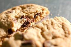 Chiuda in su del biscotto di pepita di cioccolato Fotografia Stock