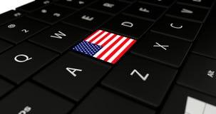 Chiuda su del bottone degli Stati Uniti Fotografia Stock Libera da Diritti