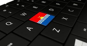 Chiuda su del bottone del Kiribati illustrazione di stock